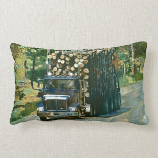 Trucker Logging Truck Lorry Heavy Transport Gift6 Lumbar Pillow