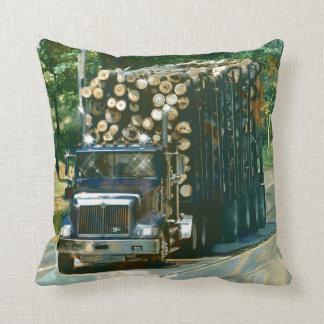 Trucker Logging Truck Lorry Heavy Transport Gift6 Throw Pillows