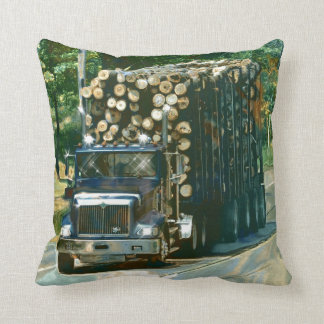 Trucker Logging Truck Lorry Heavy Transport Gift6 Throw Pillow