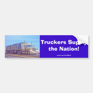 Trucker Lorry Heavy Transport Bumper Sticker #Gift