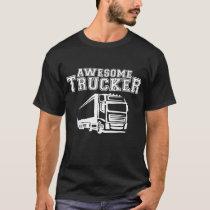 Trucker Mens Funny Beard Length Driver Lorry Gift T-Shirt