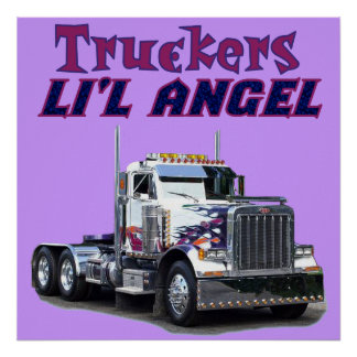 Trucker s L il Angel Posters and Prints