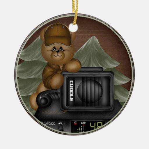 Trucker Teddy Ornament Gift Tag