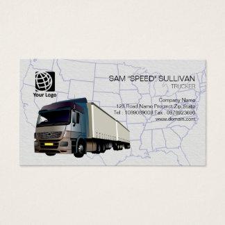 Trucker Transportation Haulage Semi Trailer Business Card