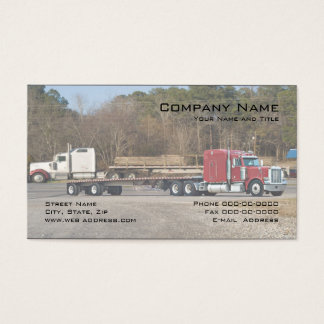 Semi truck business cards templates zazzle for Trucking business card