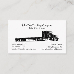 trucker trucking business card - Trucking Business Cards