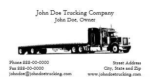 Trucking business cards templates zazzle trucker trucking business card colourmoves
