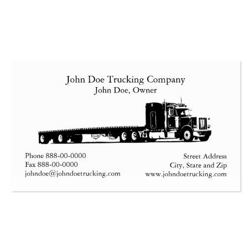 Semi truck business card templates bizcardstudio trucker trucking business card colourmoves
