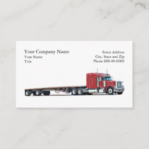 Trucking business cards zazzle trucker trucking business card colourmoves