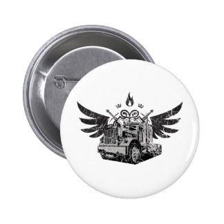 Trucker Wings Pinback Button