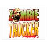 Trucker Zombie Head Postcards