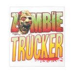 Trucker Zombie Head Scratch Pad