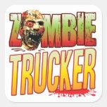 Trucker Zombie Head Sticker