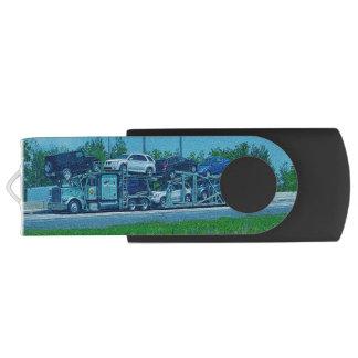 Truckers Big Rig Car-Transporter Truck Swivel USB 2.0 Flash Drive