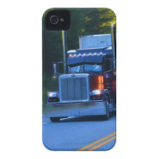 Truckers, Big Rig Cargo Truck Art iPhone 4 Case