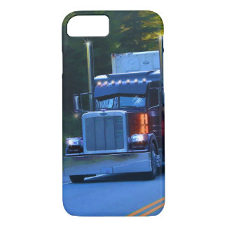Truckers, Big Rig Cargo Truck Art iPhone 7 Case