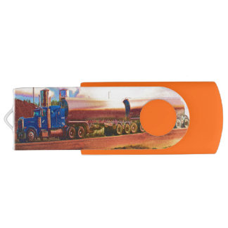 Truckers Big Rig Fuel-Tanker Truck Swivel USB 2.0 Flash Drive