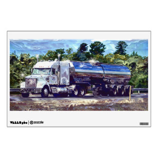 Truckers Big Rig Fuel Tanker Truck Window Decal