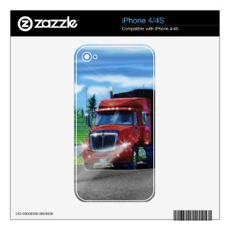 Truckers Big Rig Heavy Transport Gift Skin For iPhone 4