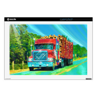 """Truckers Big Rig Heavy Transport Gift Skins For 17"""" Laptops"""