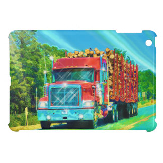 Truckers Big Rig Logging Truck Device Case Cover For The iPad Mini