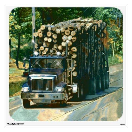 Truckers Big Rig Logging Truck Wall Decal