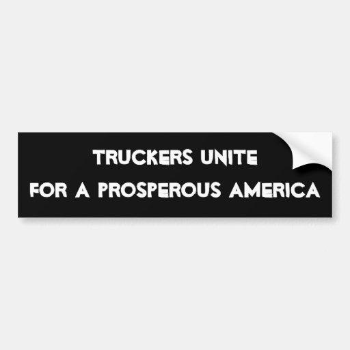 Truckers Bumper Sticker
