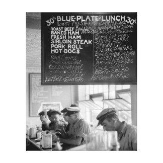 Trucker's Cafe, 1940 Canvas Print
