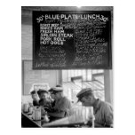 Trucker's Cafe, 1940 Postcard