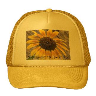 Truckers Cap -- Sunflower in the City Trucker Hat