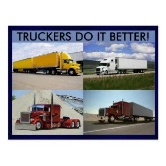 Truckers Do It Better Postcard