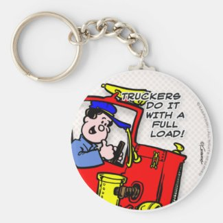 Truckers Do It Keychain