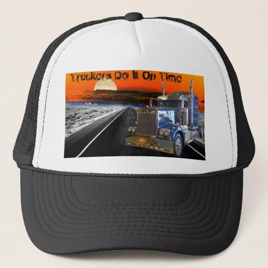 Truckers Do It On Time Trucker Hat