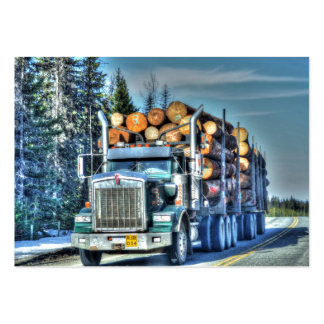 Truckers Freight Company Logging Truck Biz Card Large Business Cards (Pack Of 100)