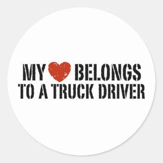 Trucker's Girl Classic Round Sticker