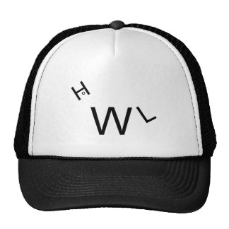 Truckers Hat with Howl design
