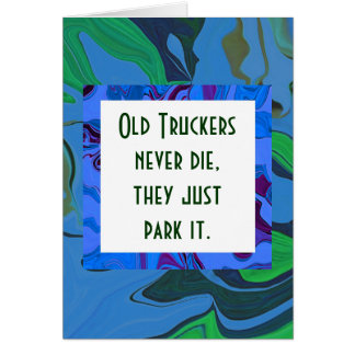 truckers humor card