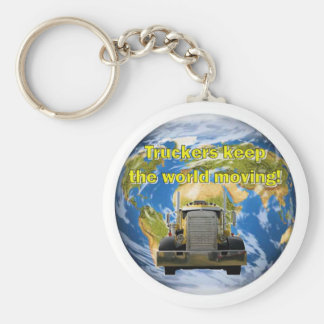 Truckers Keep The World Moving Basic Round Button Keychain