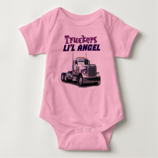 Truckers Li'l Angel Baby Bodysuit
