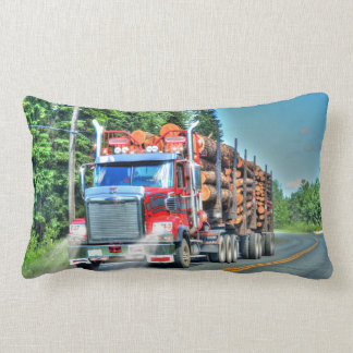 Truckers Logging Truck Lorry Heavy Transport Gift Lumbar Pillow