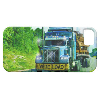 Truckers Lorry Driver Blue Wide Load Truck iPhone SE/5/5s Case