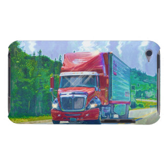 Truckers Lorry Driver Red Cargo Truck 2 iPod Case-Mate Case