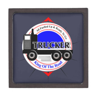 Truckers Novelty King Of The Road Graphic Keepsake Box