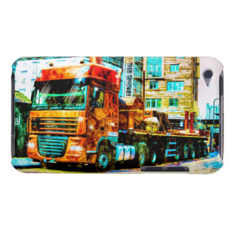 Truckers Orange Construction Lorry in London, UK iPod Touch Case