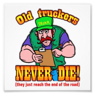 Truckers Photographic Print