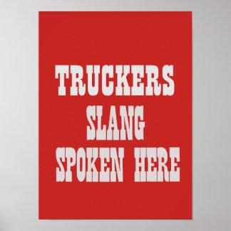 Truckers slang poster