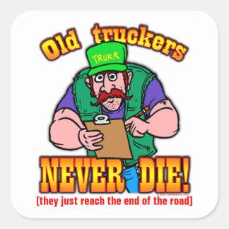 Truckers Square Sticker