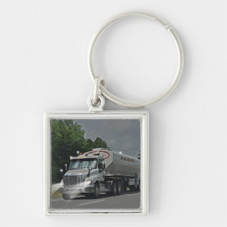 Truckers Stock Feed Supply Truck Heavy Transport Keychains