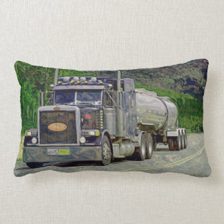 Truckers Tanker Lorry Heavy Transport Gift 2 Lumbar Pillow