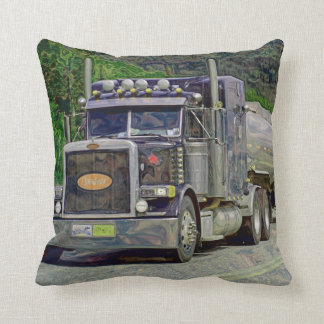 Truckers Tanker Lorry Heavy Transport Gift 2 Throw Pillow